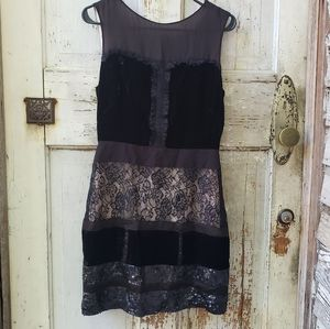 Mixed media cocktail dress by Jessica Simpson